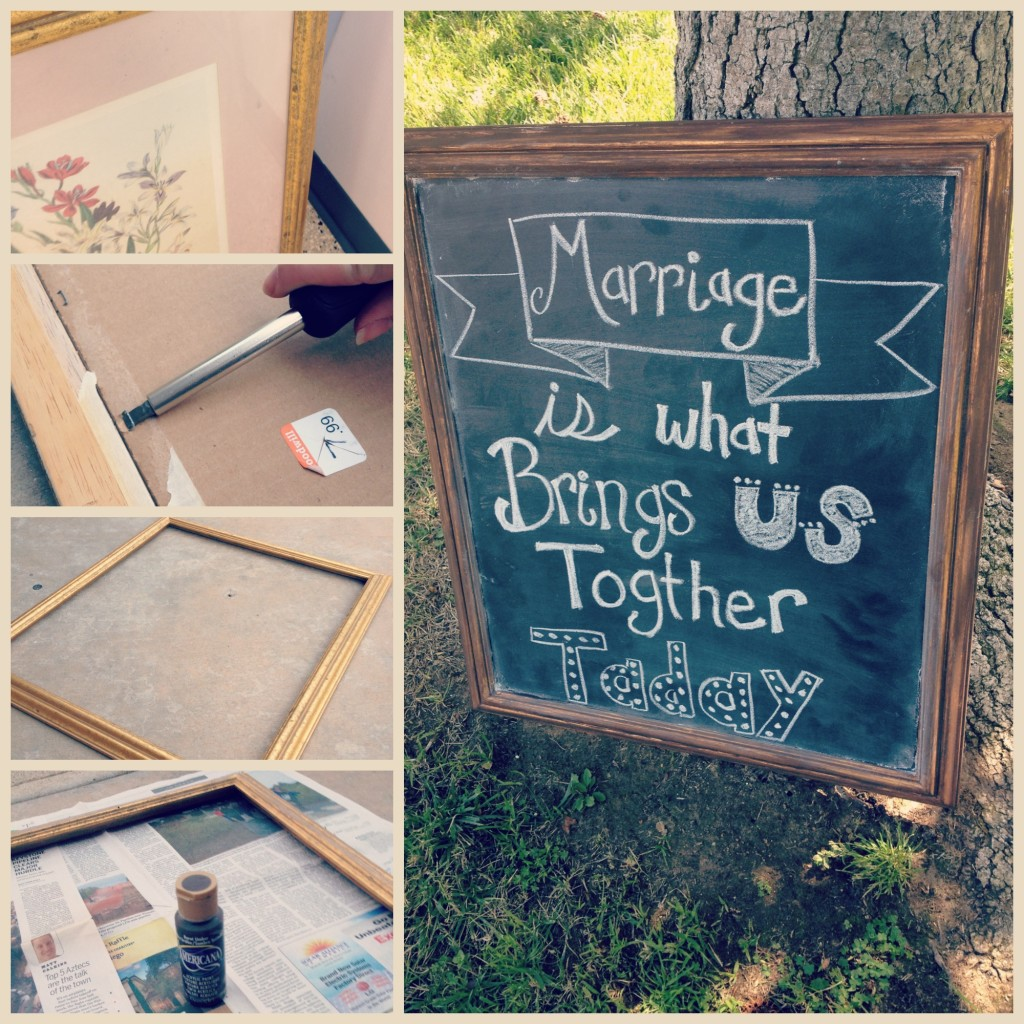 DIY Chalkboards, wedding chalkboards, DIY wedding decor, DIY bride