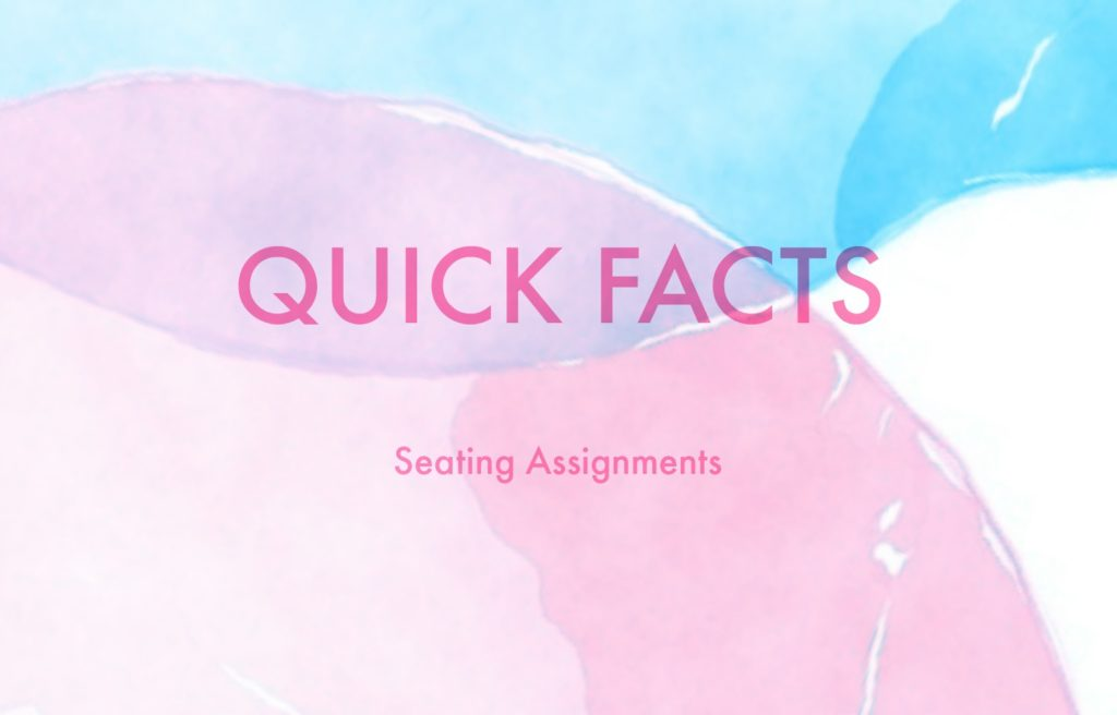 quick facts- seating